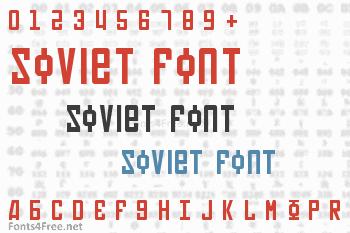 Soviet Font