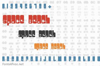 Space Beach Font