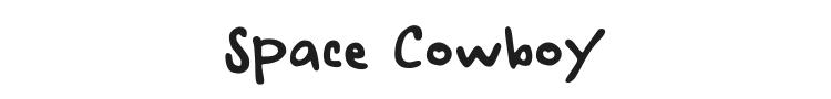 Space Cowboy Font Preview