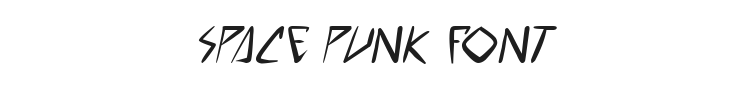 Space Punk Font Preview