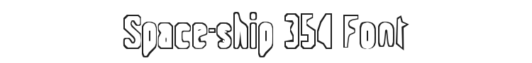Space-ship 354 Font Preview