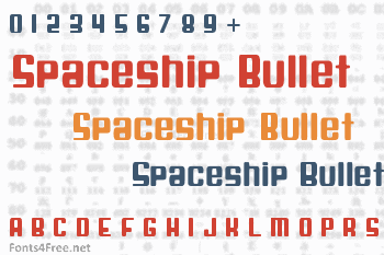 Spaceship Bullet Font