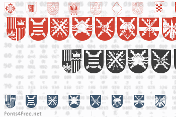 Spanish Army Shields Font
