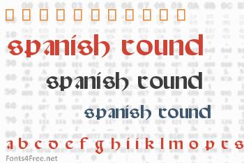Spanish Round Bookhand Font