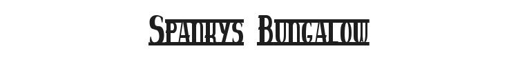 Spankys Bungalow Font Preview
