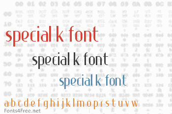 Special K Font