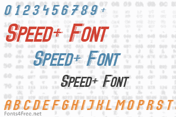 Speed+ Font
