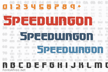 Speedwagon Font