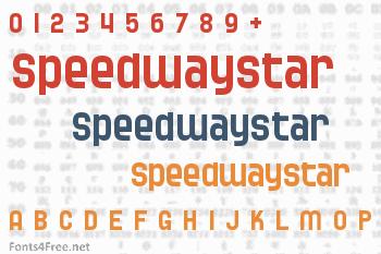 Speedwaystar Font