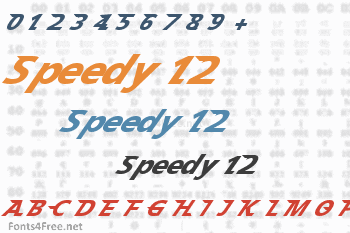 Speedy 12 Font