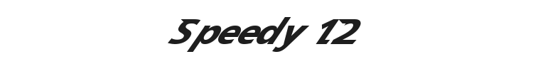 Speedy 12 Font Preview