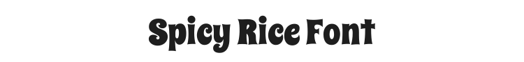 Spicy Rice Font Preview