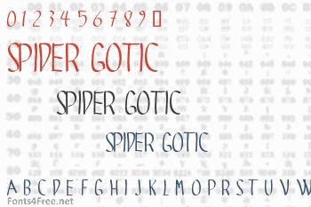 Spider Gotic Font
