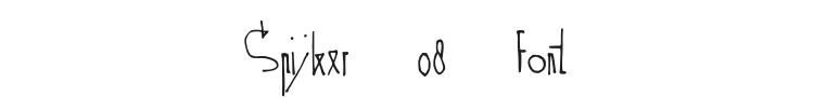 Spijker 08 Font