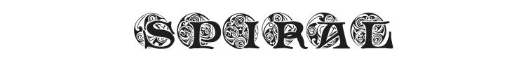 Spiral Initials Font Preview