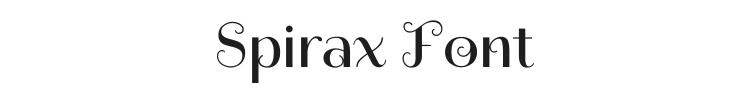 Spirax Font Preview