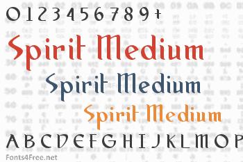 Spirit Medium Font