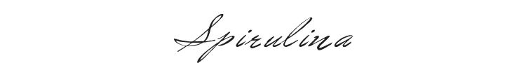 Spirulina Font Preview