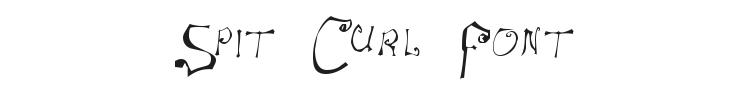 Spit Curl Font Preview
