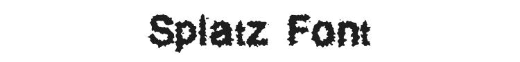 Splatz Font Preview