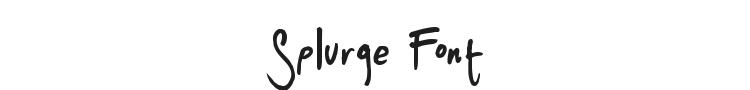 Splurge Font