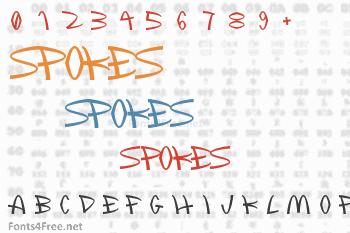 Spokes Font