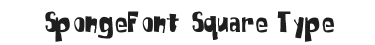 SpongeFont Square Type