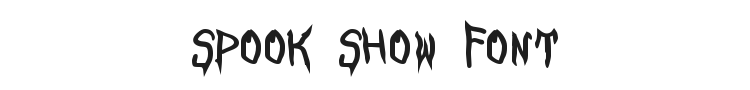Spook Show Font Preview