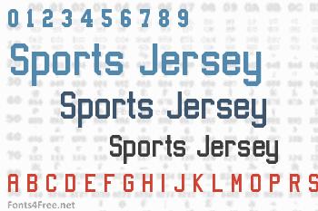 Sports Jersey Font