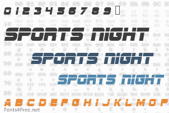 Sports Night Font