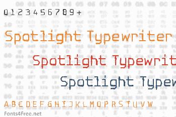 Spotlight Typewriter Font