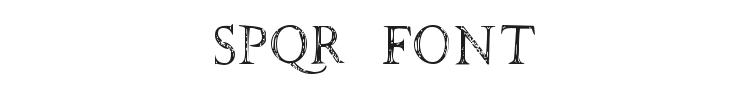 SPQR Font Preview