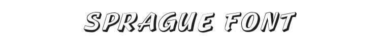 Sprague Font Preview