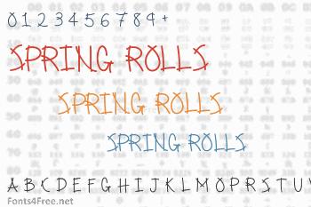 Spring Rolls Font