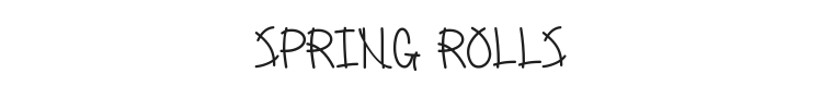 Spring Rolls Font Preview