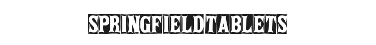 Springfield Tablets Font