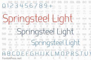 Springsteel Light Font