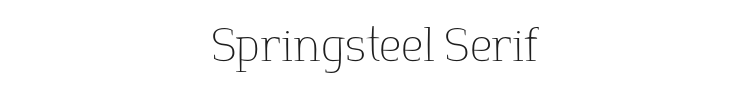 Springsteel Serif Font Preview