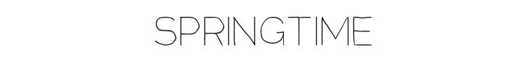 Springtime Font Preview