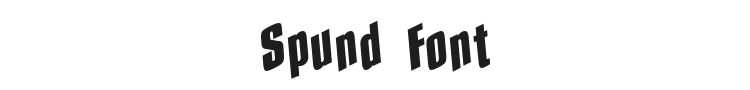 Spund Font Preview