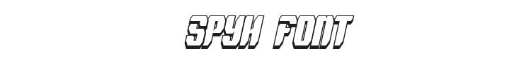 Spyh Font Preview