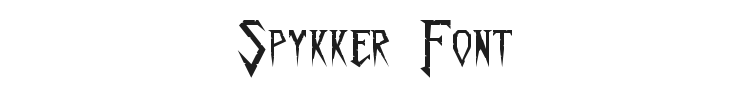 Spykker Font Preview