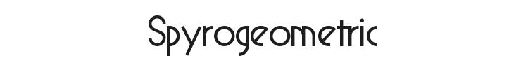 Spyrogeometric Font Preview