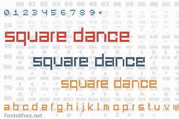 Square Dance Font