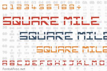 Square Mile Font