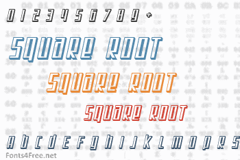Square Root Font