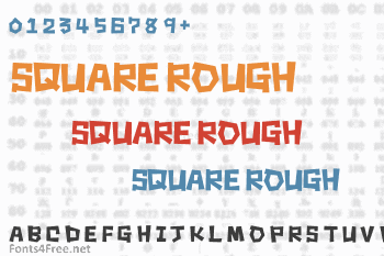 Square Rough Font