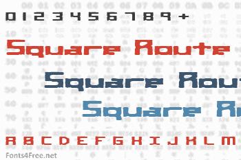 Square Route Font