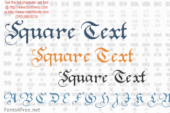 Square Text Font