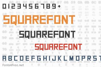 SquareFont Font